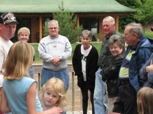 Food and friends - potluck at Wildwood Resort in Grand Rapids, MN