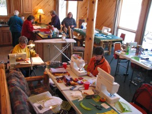 quilting retreat, scrapbooking retreat, girls' weekends