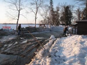 spring thaw in Minnesota