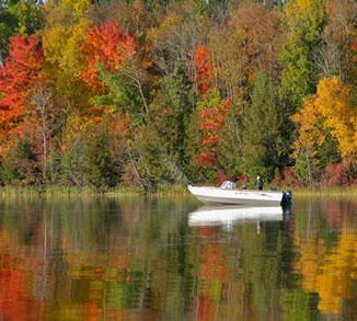 Fall Fishing on Bass Lake, great fall fishing lake in Grand Rapids, Best fall fishing in Northern MN
