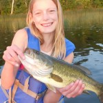 Girl holding a fish she caught at a northern Minnesota fishing resort