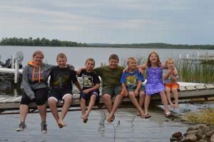 minnesota family enjoying their resort vacation